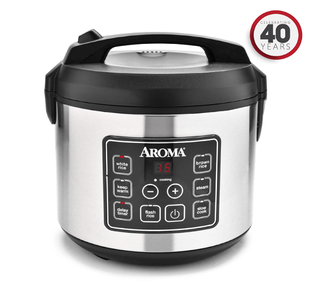 Digital Rice Cooker, Slow Cooker, Food Steamer, SS Exterior