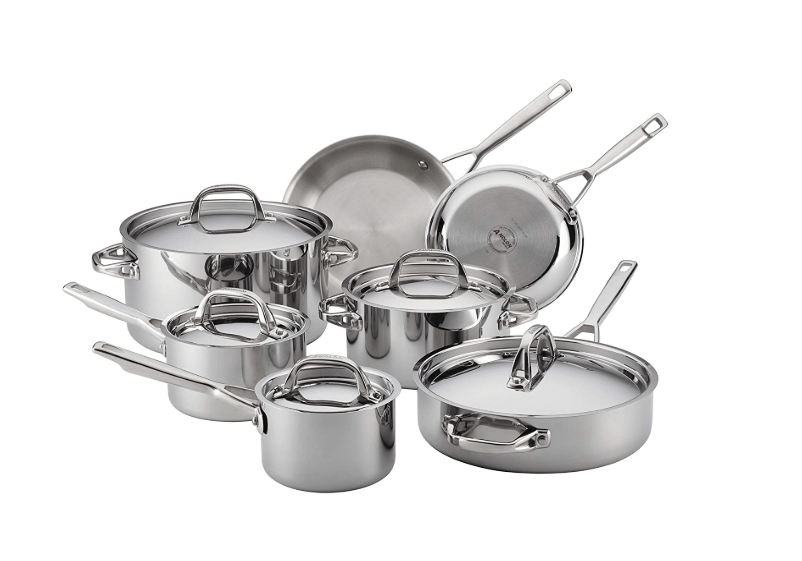 Clad Stainless Steel 12-Piece Cookware Set